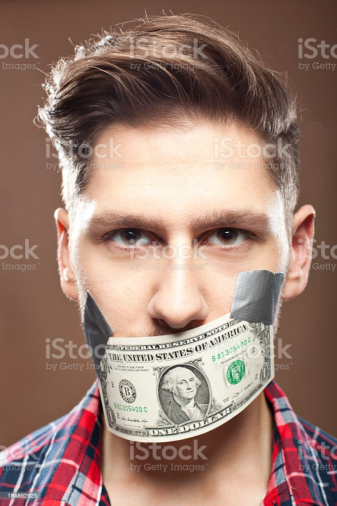 Money Gag royalty-free stock photo
