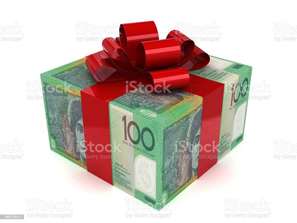 Money Gift - Australian Dollars royalty-free stock photo