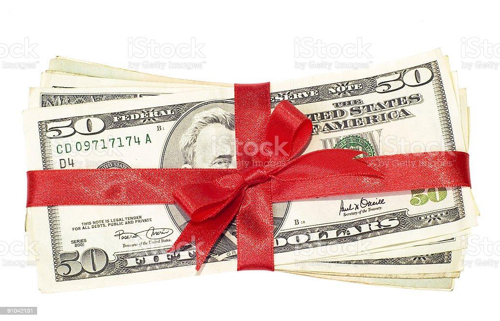 Money gift stock photo