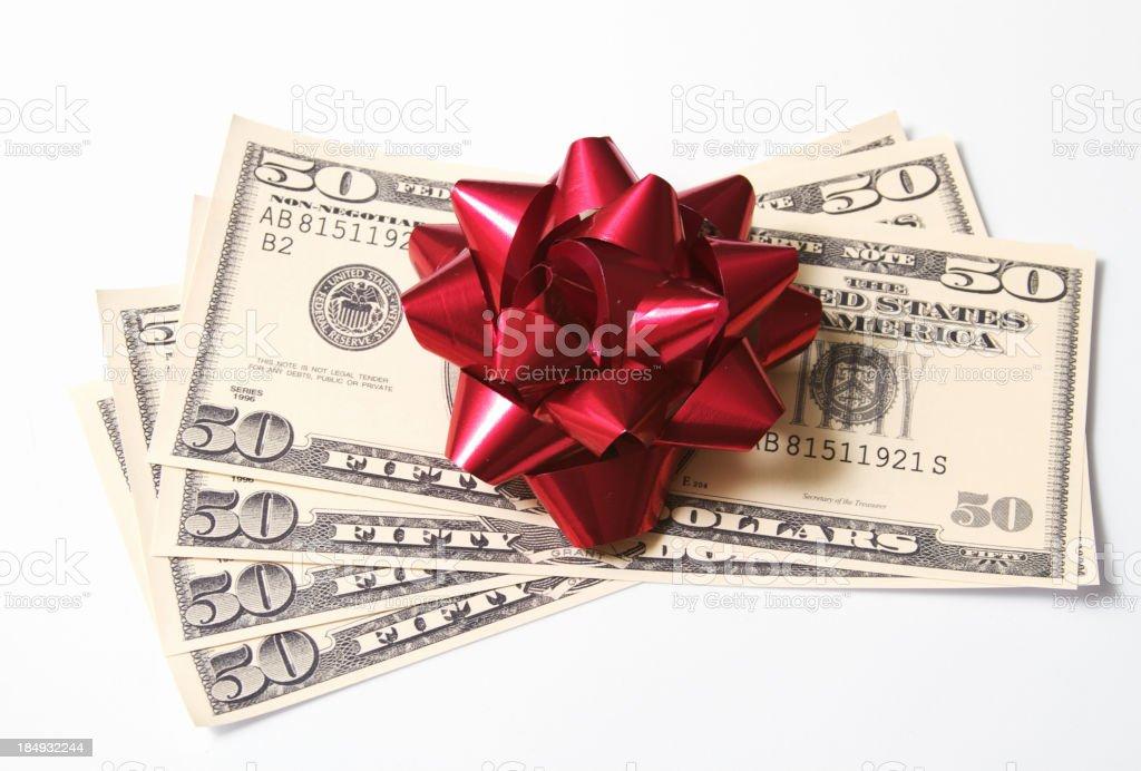 Geldgeschenk Stock-Fotografie und mehr Bilder von 50-Dollar-Schein ...