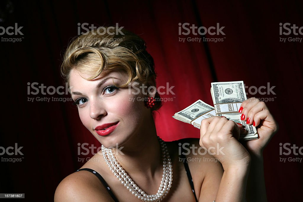 Money Girl royalty-free stock photo