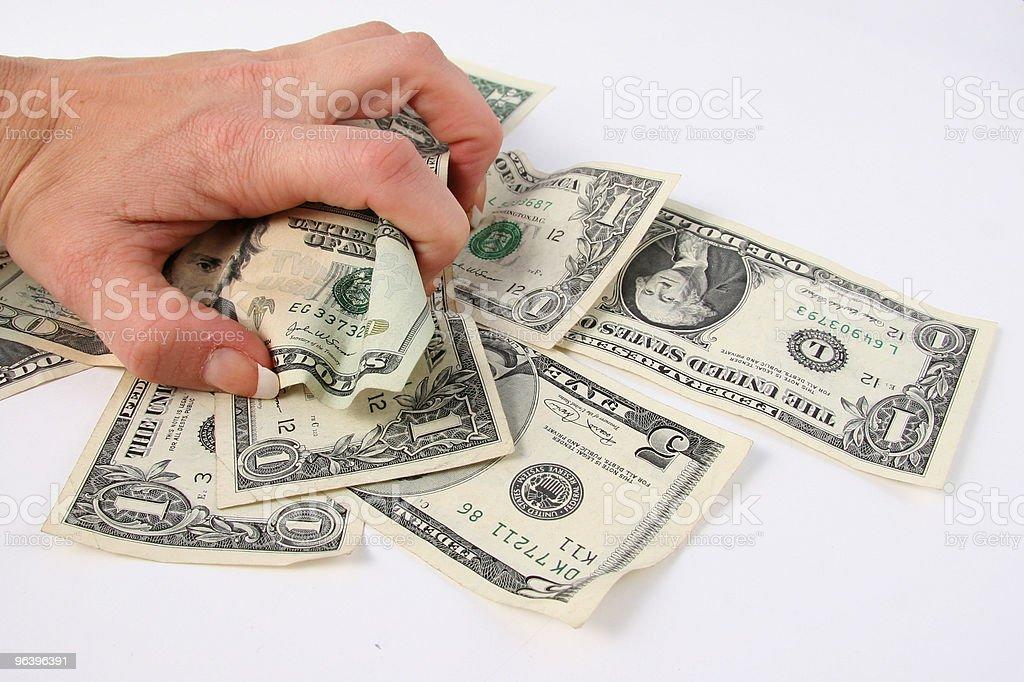 Money Grabber - Royalty-free American One Hundred Dollar Bill Stock Photo