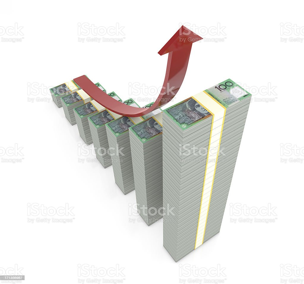 Money Graph royalty-free stock photo