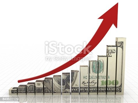 Money graph stock market finance growth chart