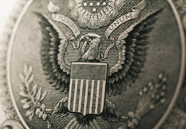 Dinero. Gran prensa de los Estados Unidos - foto de stock