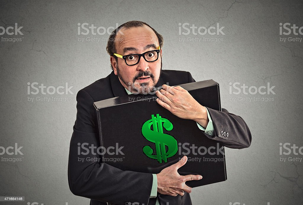 Money greed stock photo