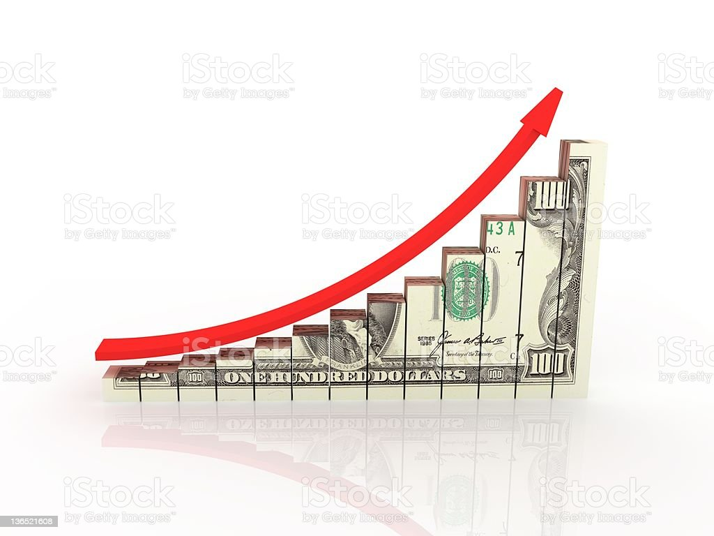 Money Growth Chart stock photo