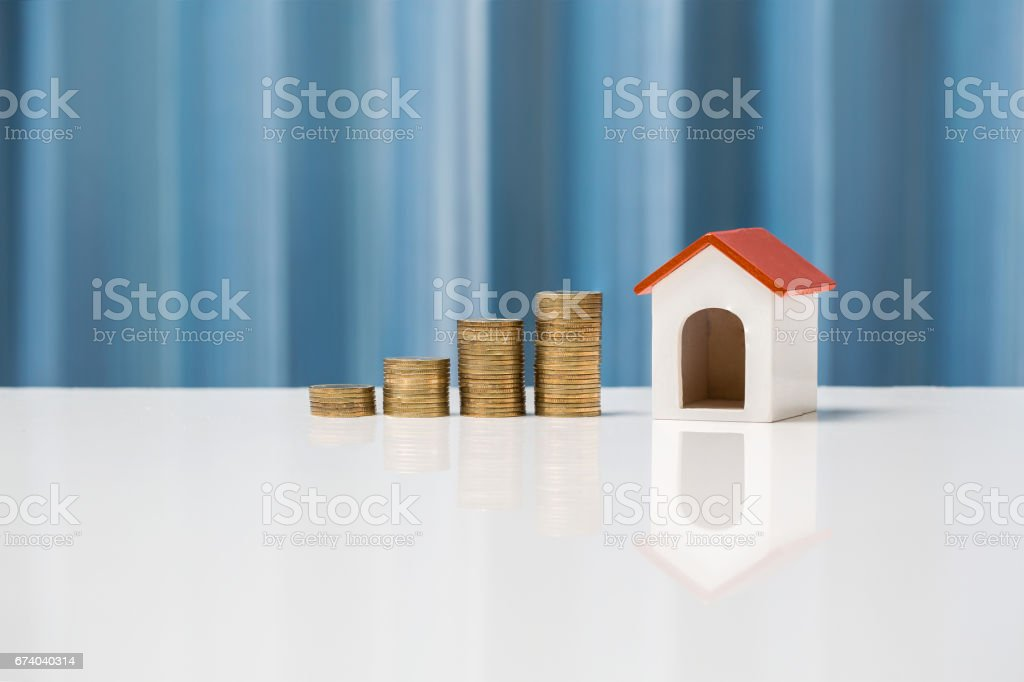 Money growth concept saving to buy house for your family. royalty-free stock photo