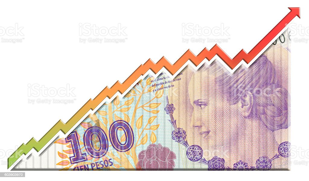 Money Growth Graph stock photo