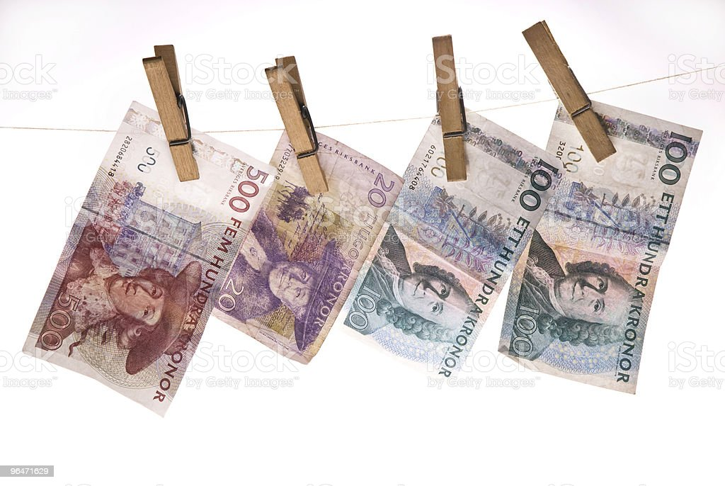 Money hanging on line royalty-free stock photo