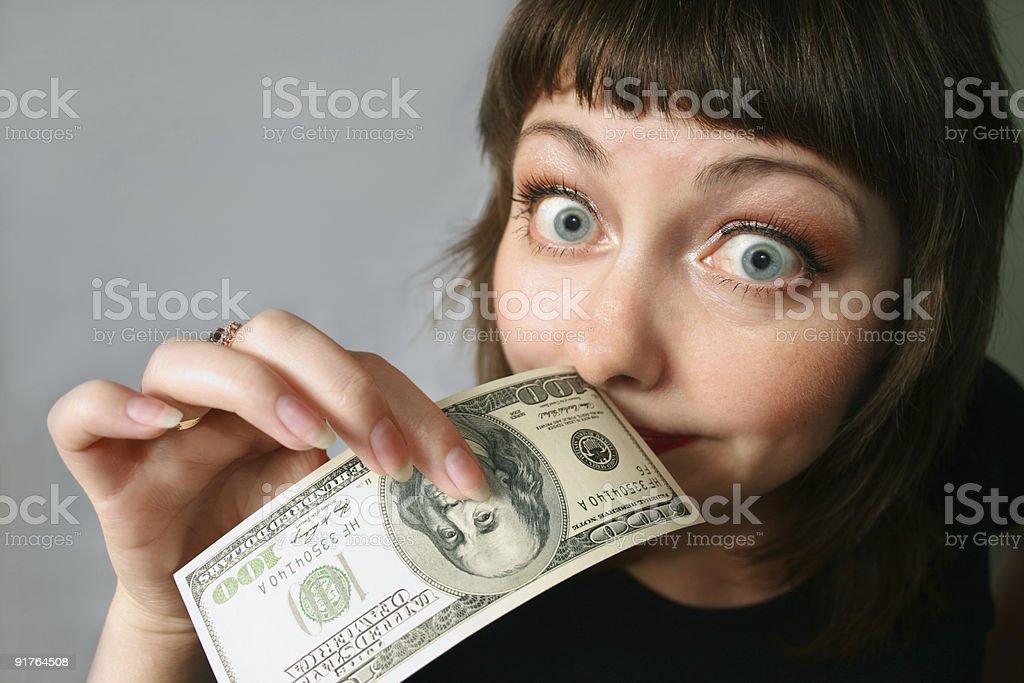 Money has no smell! stock photo