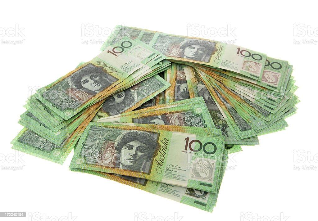 Money Heaps stock photo