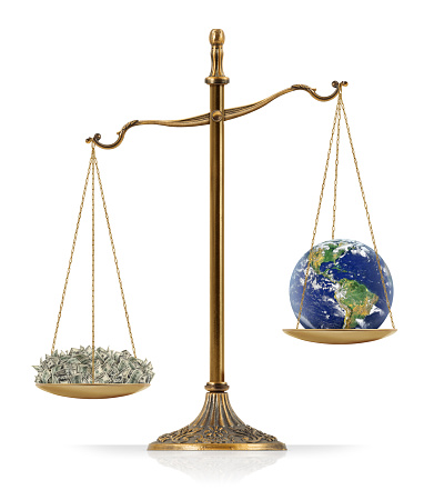 Money Heavier Than Earth Stock Photo - Download Image Now