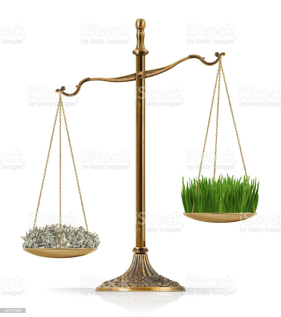 Money Heavier Than Grass royalty-free stock photo