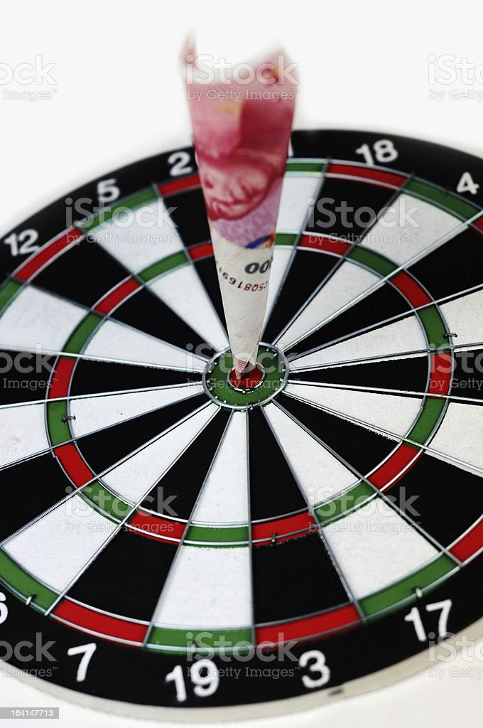 money hit the bullseye royalty-free stock photo