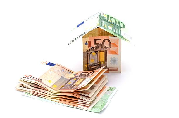 money house on a white background - sale stok fotoğraflar ve resimler