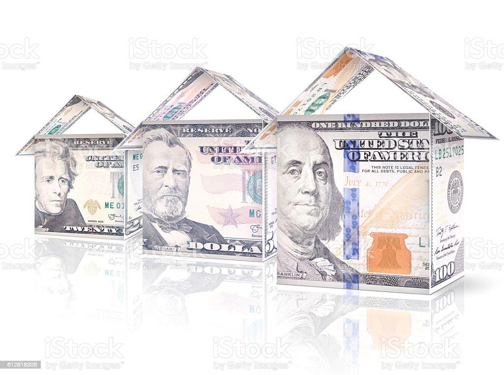 Money Houses stock photo