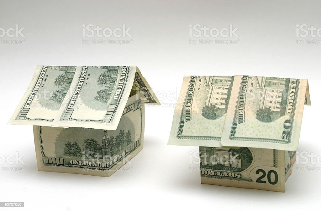 Money houses royalty-free stock photo