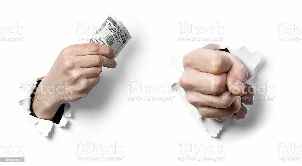 Money impact stock photo