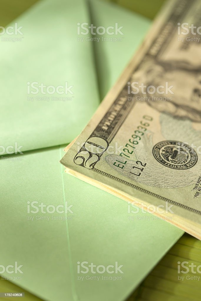 Money in an envelope royalty-free stock photo