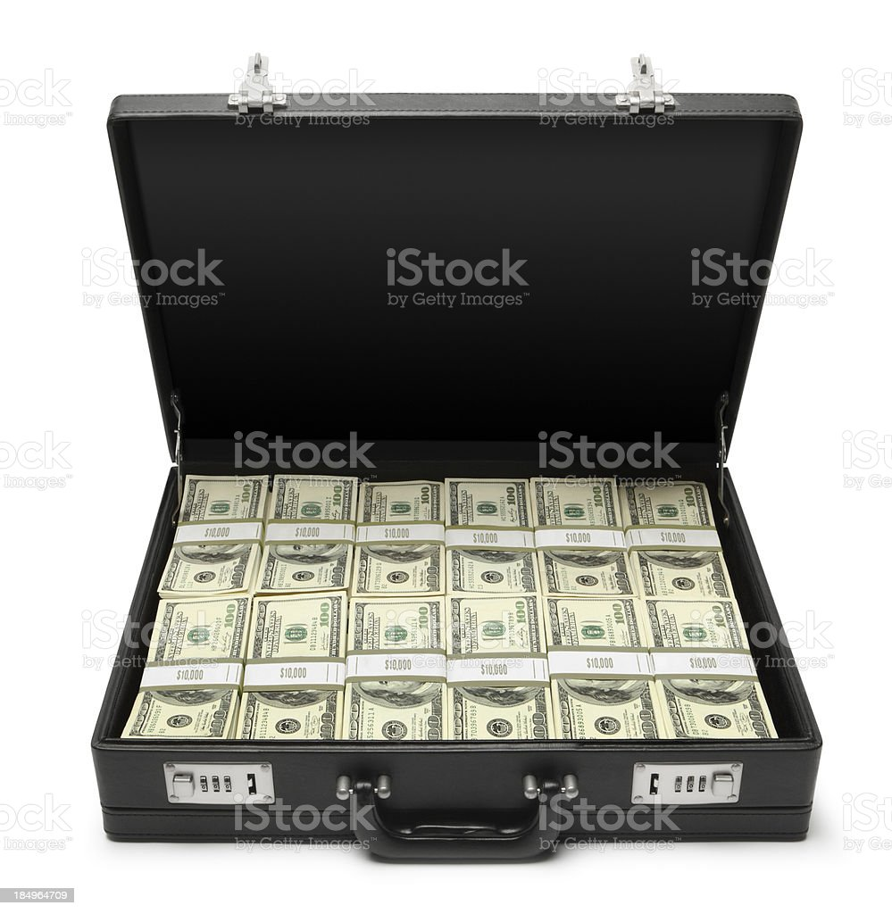 Money In Briefcase stock photo