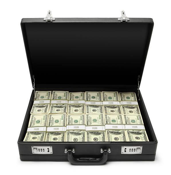 Money In Briefcase stock photo