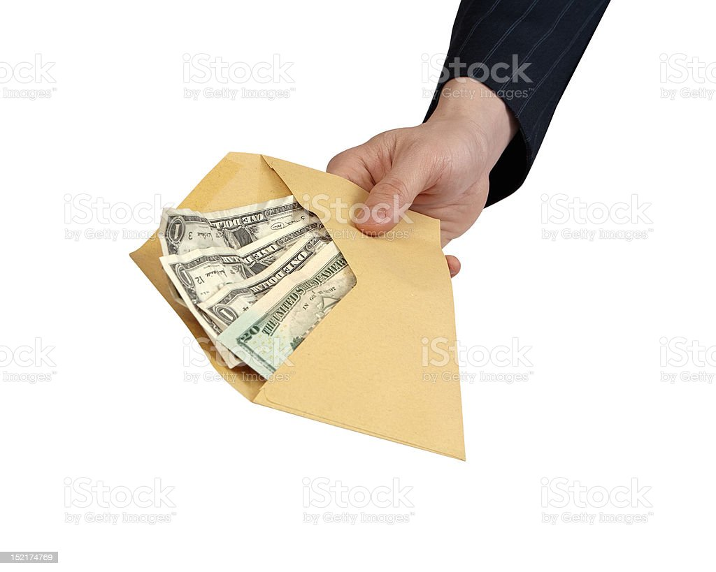 Money in Envelope royalty-free stock photo