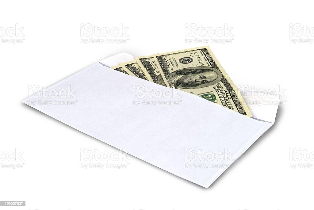 Money in envelope royalty-free stock photo