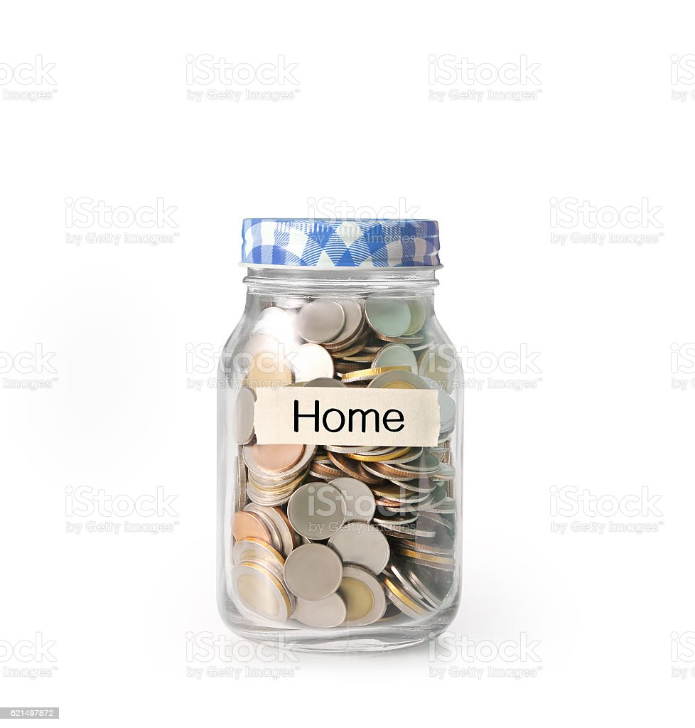 money in glass piggy  bank foto stock royalty-free