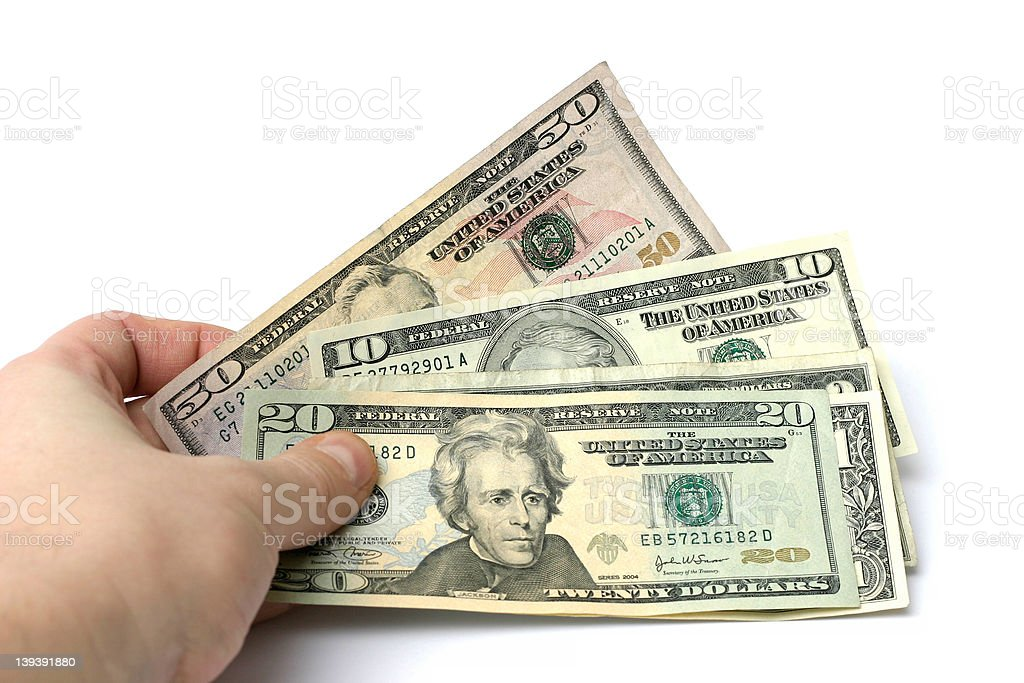 money in hand royalty-free stock photo