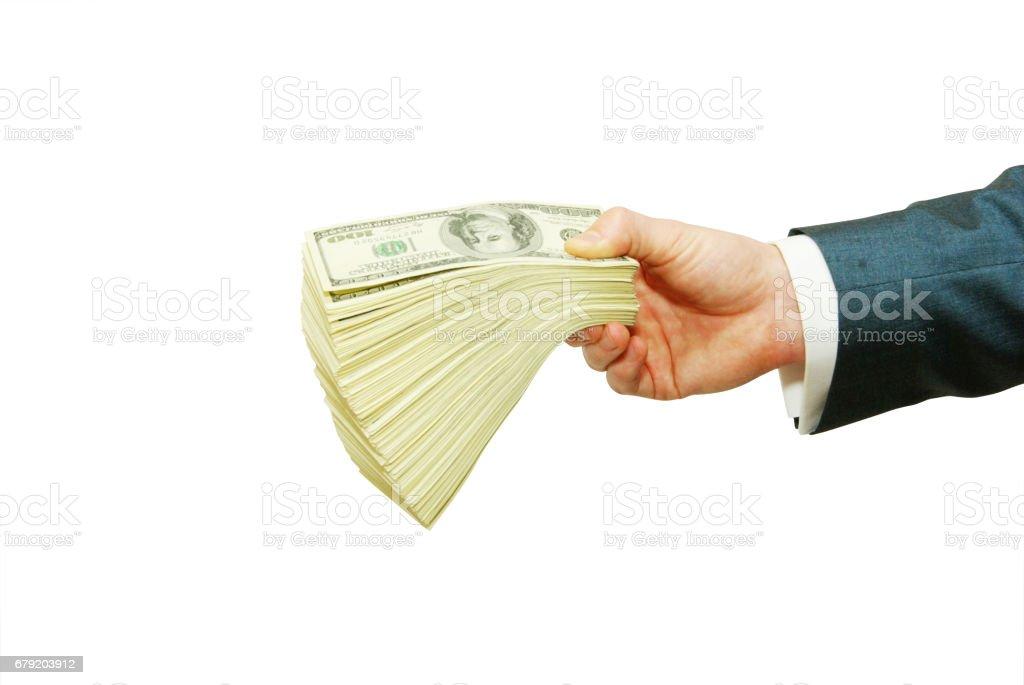 money in hand photo libre de droits