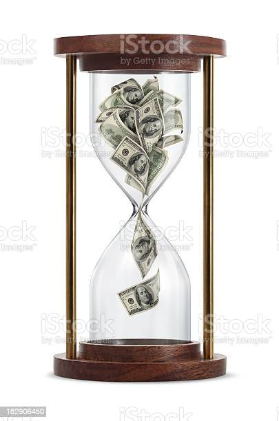 Money In Hourglass Stock Photo - Download Image Now
