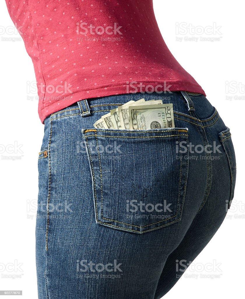 Money In My Pocket royalty-free stock photo