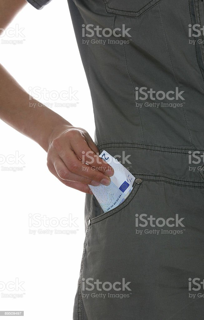 Money  in pocket royalty-free stock photo