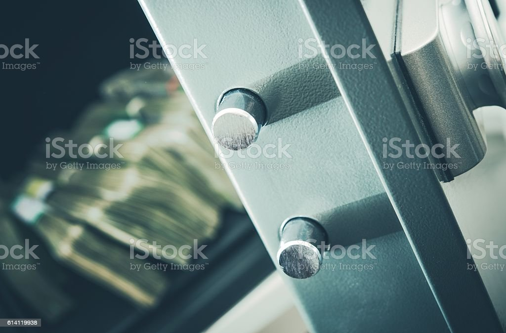 Money in Residential Safe stock photo