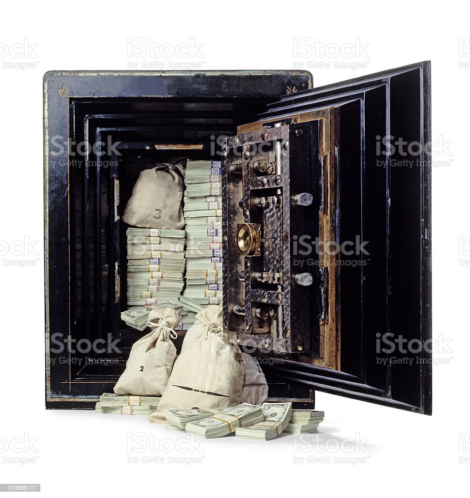 Money in Safe stock photo