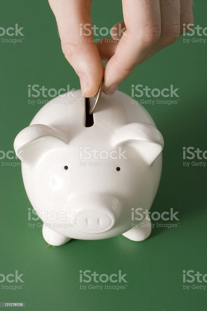 Money in the bank royalty-free stock photo