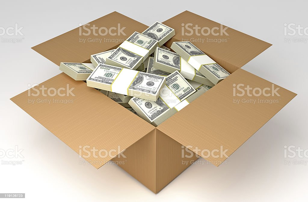 Money in the box royalty-free stock photo