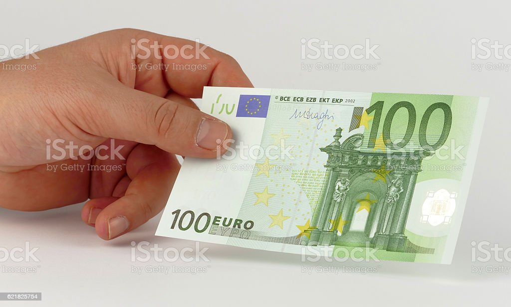 Money in the hand stock photo