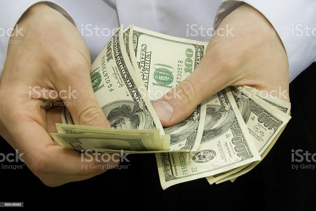 money in the hands  Adult Stock Photo