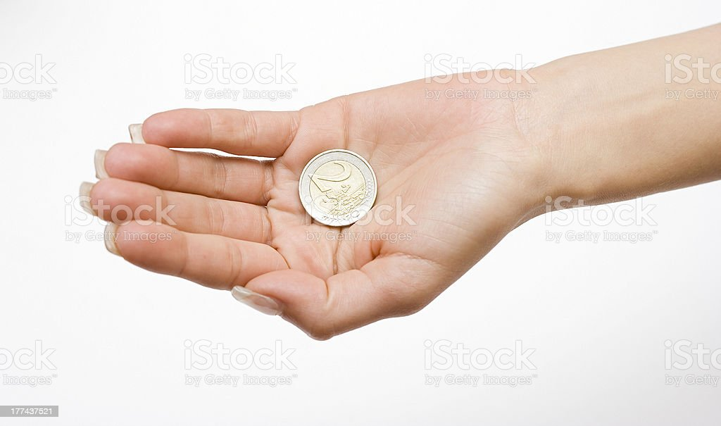 Money in the Palm stock photo