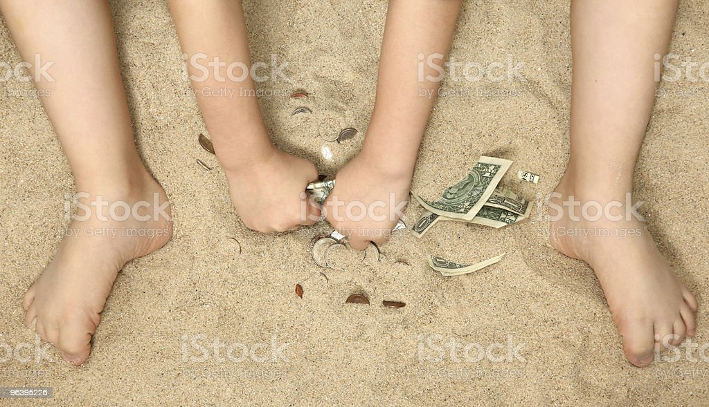 Money in the Sand - Royalty-free Beach Stock Photo