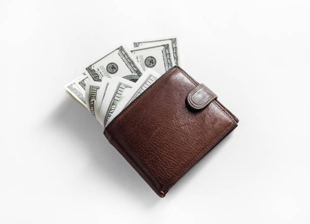 money in wallet - wallet stock pictures, royalty-free photos & images