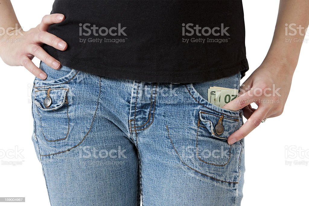Money In Your Pocket royalty-free stock photo