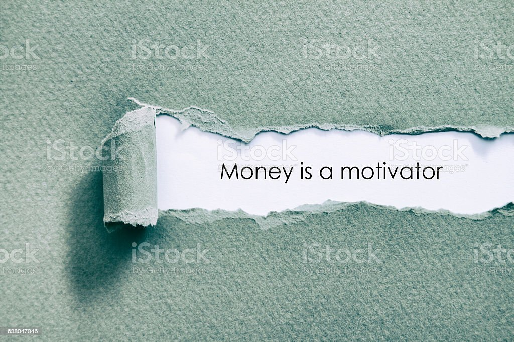 Money is a motivator stock photo