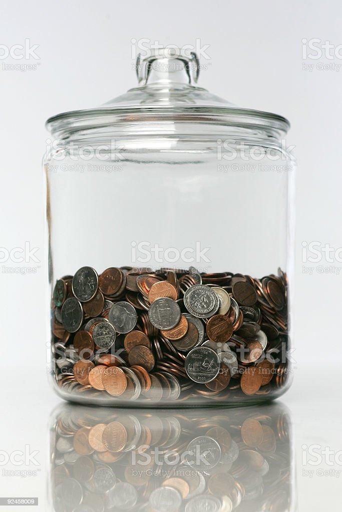 Money Jar 02 royalty-free stock photo