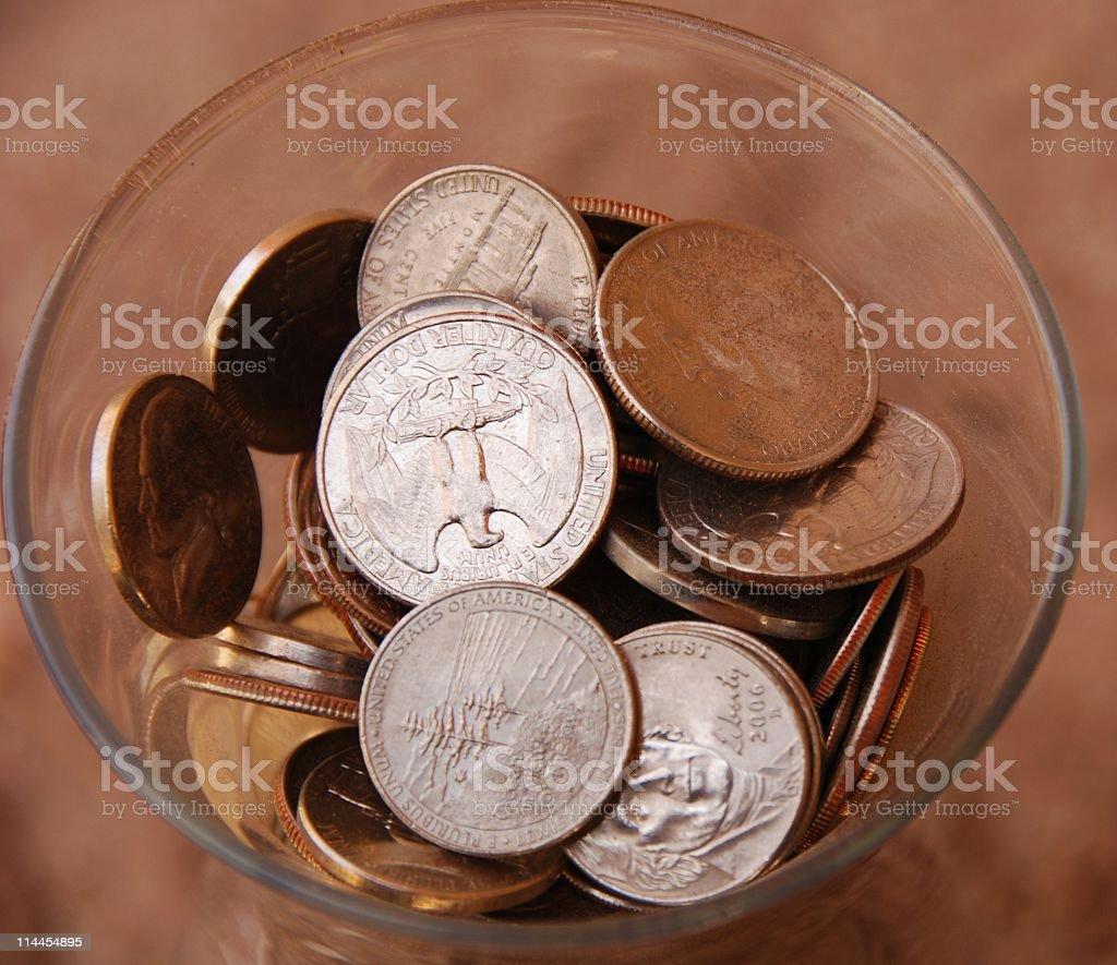 Money Jar (Top View) royalty-free stock photo