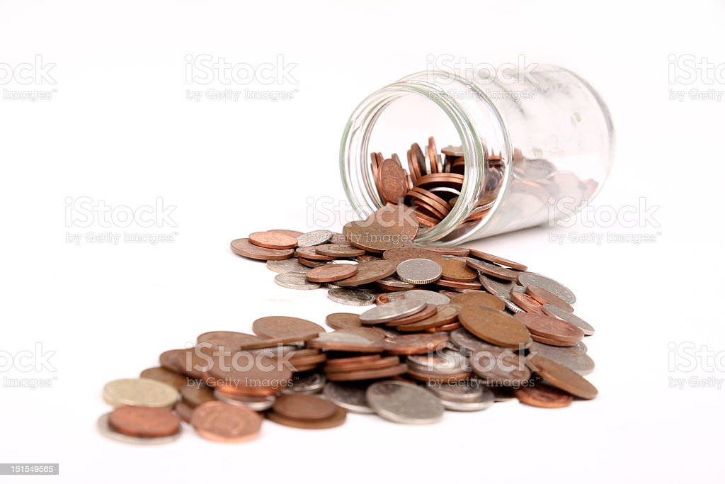 money jar royalty-free stock photo