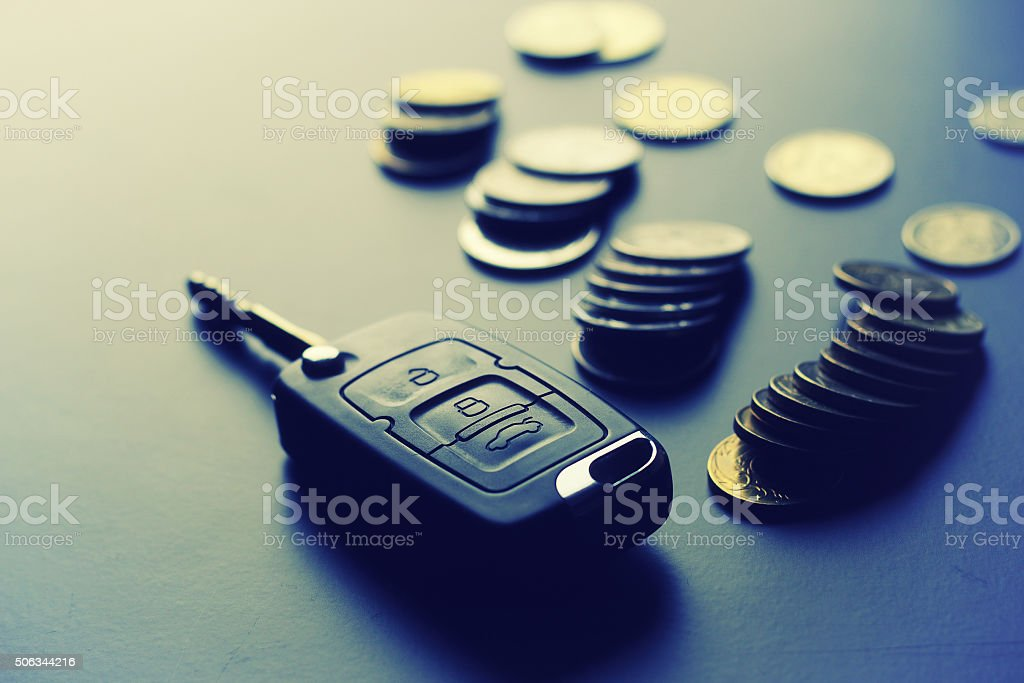 Money key gift stock photo