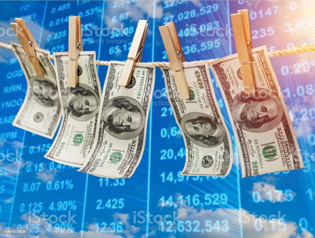 Money laundering. stock photo